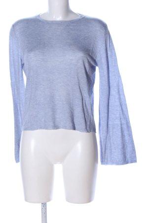 Mango Basics Rundhalspullover blau meliert Casual-Look