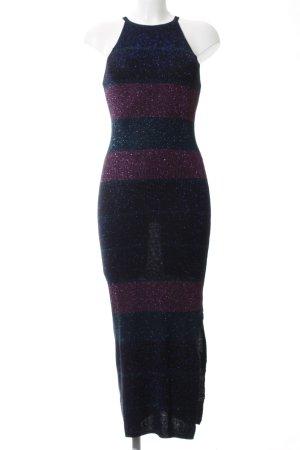 Mango Basics Tube Dress black-pink striped pattern casual look