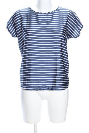 Mango Basics Schlupf-Bluse blau-weiß Streifenmuster Casual-Look