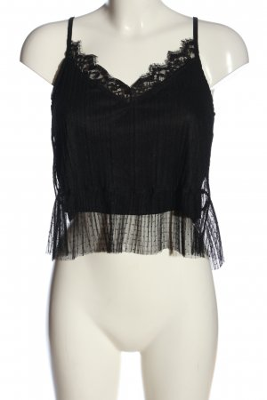 Mango Basics Camisa de mujer negro elegante