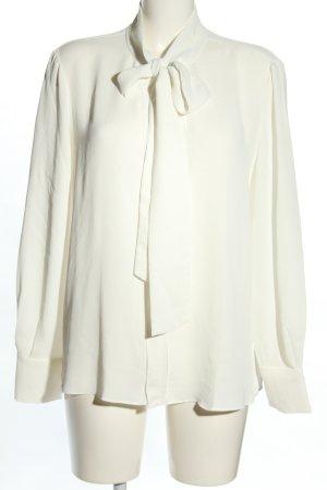 Mango Basics Blouse avec noeuds blanc style d'affaires