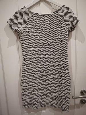 Mango Basics schwarz weiß Kleid