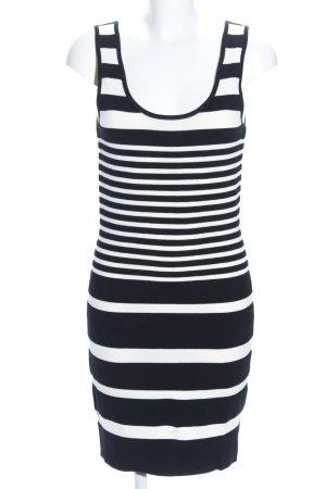 Mango Basics Shirtkleid schwarz-wollweiß Allover-Druck Casual-Look