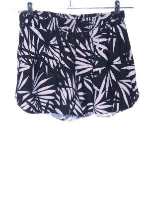Mango Basics Shorts schwarz-weiß Allover-Druck Casual-Look