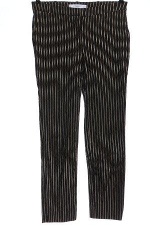 Mango Basics Stoffhose schwarz-weiß Streifenmuster Casual-Look