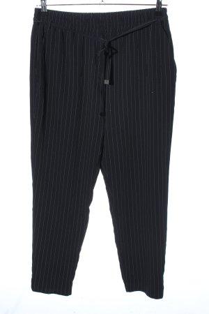 Mango Basics Stoffhose schwarz-weiß Allover-Druck Business-Look