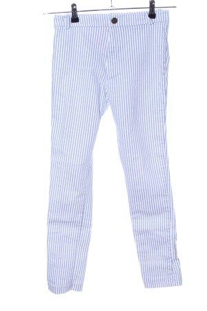 Mango Basics Stoffhose weiß-blau Streifenmuster Casual-Look