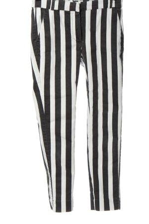 Mango Basics Straight-Leg Jeans schwarz-weiß Streifenmuster Casual-Look