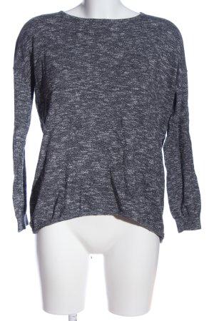 Mango Basics Strickpullover weiß-schwarz meliert Casual-Look