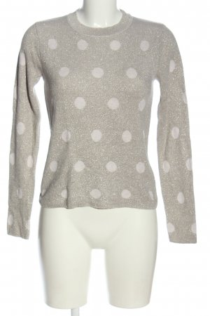Mango Basics Strickpullover hellgrau Allover-Druck Casual-Look