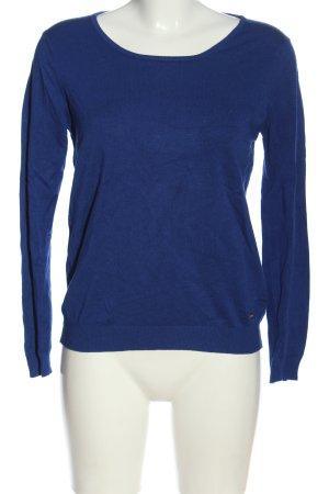 Mango Basics Strickpullover blau Casual-Look