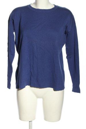 Mango Basics Strickshirt blau Casual-Look