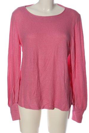 Mango Basics Camisa tejida rosa look casual