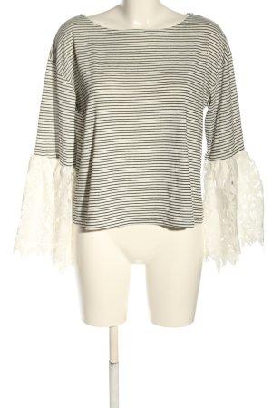 Mango Basics Strickshirt weiß-schwarz Streifenmuster Casual-Look