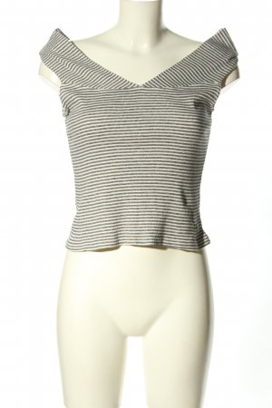 Mango Basics Knitted Top white-light grey striped pattern casual look