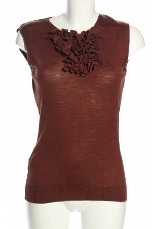 Mango Basics Knitted Top brown casual look