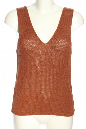 Mango Basics Knitted Top brown cable stitch casual look