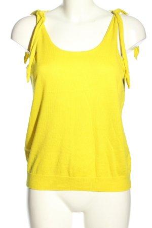 Mango Basics Top de punto amarillo pálido look casual
