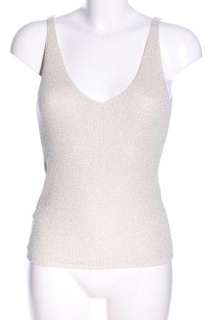 Mango Basics Haut tricotés blanc cassé style décontracté