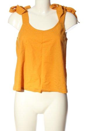 Mango Basics Gebreide top licht Oranje casual uitstraling