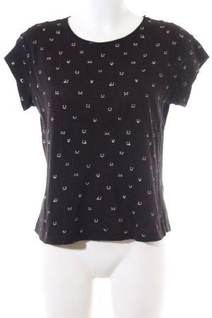 Mango Basics T-Shirt schwarz-weiß Allover-Druck Casual-Look
