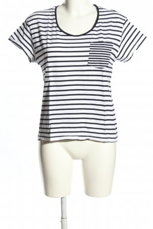 Mango Basics T-Shirt weiß-schwarz Allover-Druck Casual-Look