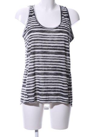Mango Basics Camiseta sin mangas negro-blanco estampado a rayas look casual