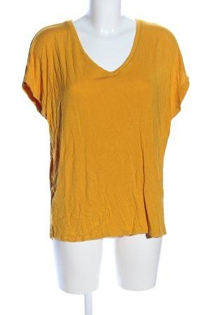 Mango Basics V-Ausschnitt-Shirt hellorange Casual-Look
