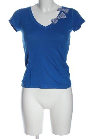 Mango Basics V-Ausschnitt-Shirt blau Casual-Look