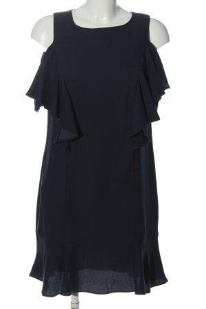 Mango Basics Volantkleid schwarz Elegant
