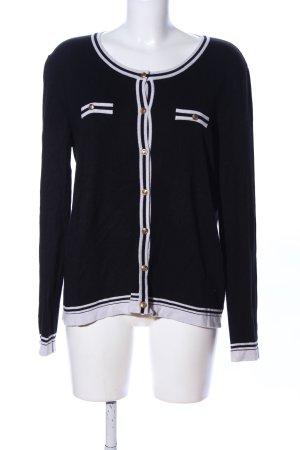 Mango Basics Wolljacke schwarz-weiß Streifenmuster Casual-Look