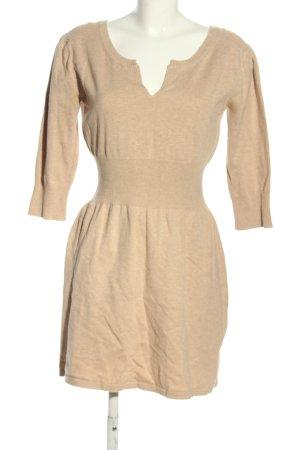 Mango Basics Vestido de lana nude moteado look casual