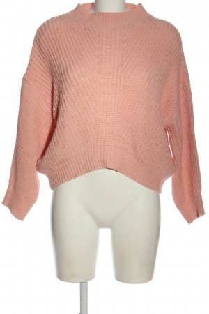 Mango Basics Warkoczowy sweter różowy Warkoczowy wzór W stylu casual
