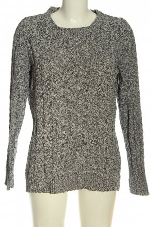 Mango Basics Cable Sweater white-black flecked casual look
