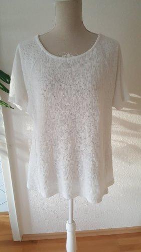 Mango Camisa tipo túnica blanco