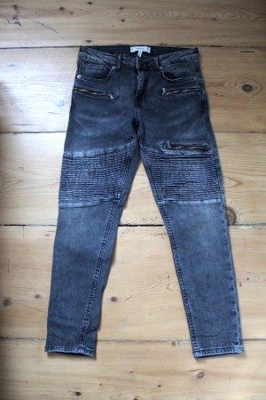 Mango Biker Jeans anthracite