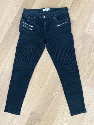 Mango Jeans de moto noir
