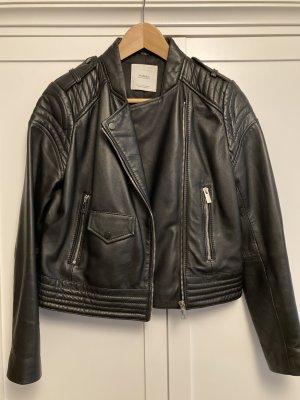 Mango Biker Jacket black leather