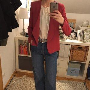 Mango Blazer en jersey rose-magenta