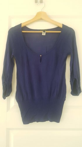 Mango blauer dünner Pullover Gr. XS/ S