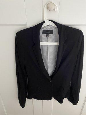 Mango Jersey blazer zwart