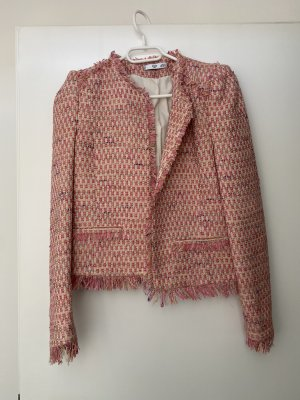 Mango Tweed Blazer pink