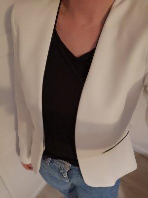 Mango Blazer Weiß Schwarz S 36 Büro Office Jacke Dinner Abend