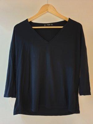 Mango Camisa de mujer azul oscuro