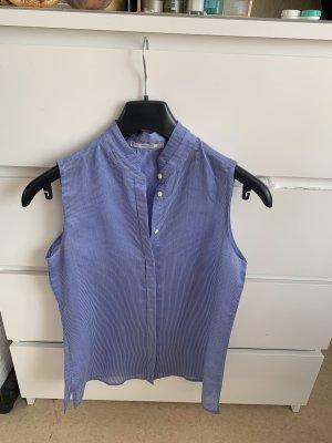 Mango Bodysuit Blouse white-blue