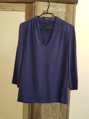 Mango Long Sleeve Blouse blue