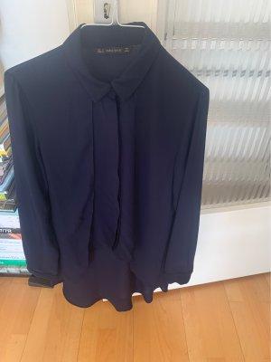 Zara Kołnierzyk koszulowy ciemnoniebieski