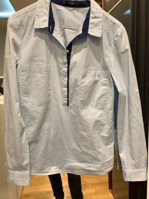 Mango Kołnierzyk koszulowy jasnoniebieski