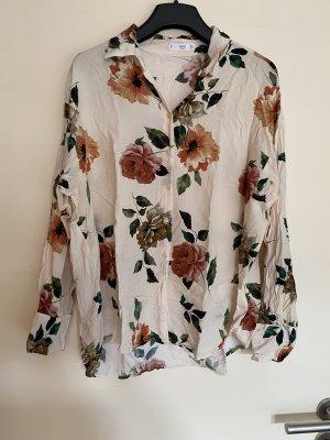 Mango Bluse Hemdbluse Blumen L