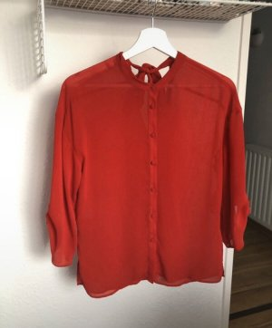 Mango Bluse in rot mit Knöpfen
